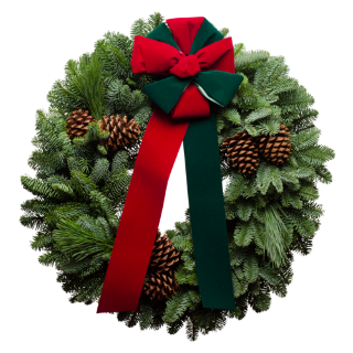 Red & Green Merry Christmas Wreath