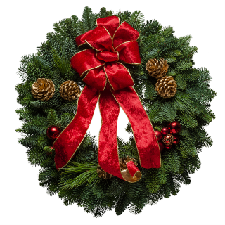 Crimson Delight Wreath
