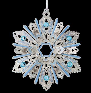 Jeweled Snowflake Ornament
