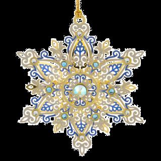 Shimmering Snowflake Christmas Ornament
