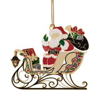 Santa on Sleigh Christmas Ornament