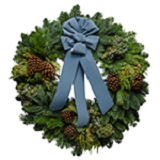 Blue Glacier Christmas Wreaths