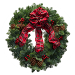 Red Tartan Christmas Wreaths