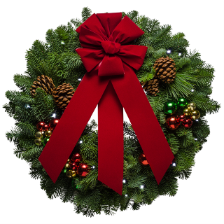 pre lit christmas wreaths with led lights and ornaments