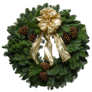 "20"" Rustic Gold Christmas Wreath"