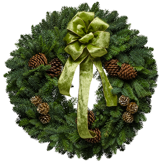 "25"" Victorian Green Christmas Wreath"