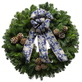 "20"" Happy Hanukah Wreath"