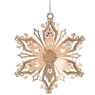 Beautiful Christmas ornament shaped like a snowflake