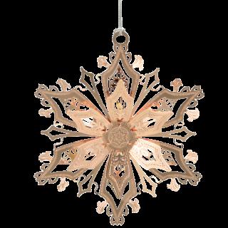 Beautiful Christmas ornament shaped like a snowflake