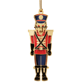 Nutcracker Christmas ornament looks like the one in the ballet