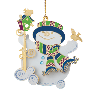 Snippety Snowman Christmas Ornaments