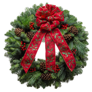 "20"" Holly Classic Christmas Wreath"
