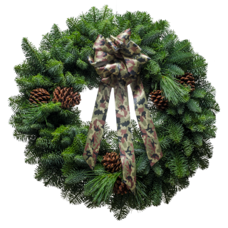 Camo Christmas Wreath