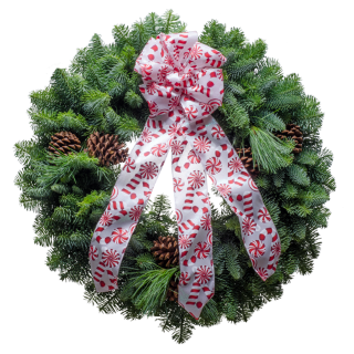 20&#$; Candy Cane Christmas Wreath
