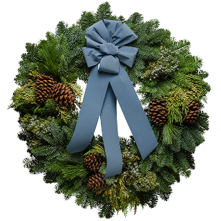 "25"" Blue Glacier Christmas Wreath"
