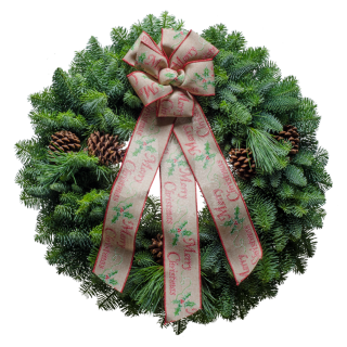 "20"" Homespun Christmas Wreath"