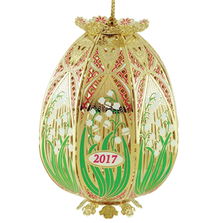 2017 Trellis Egg Ornament