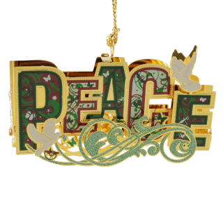Peace Word Ornament