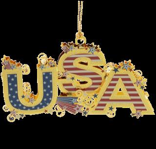 USA Word Ornament