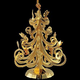 Beautiful brass ornament shaped like a Christmas tree