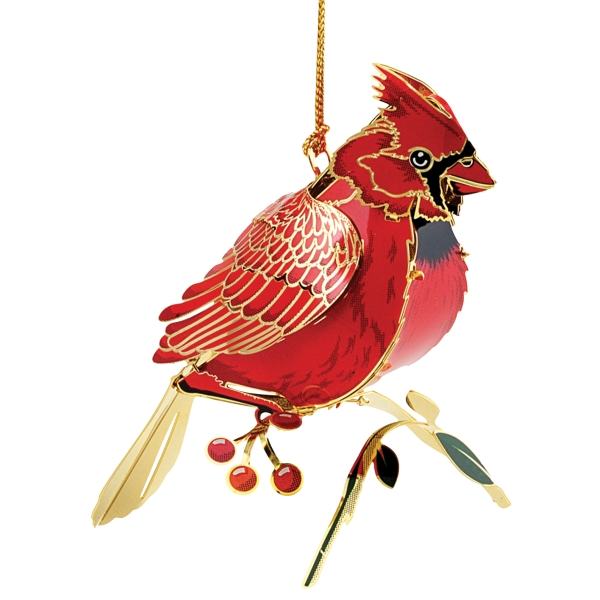 Cardinal 3D Ornament