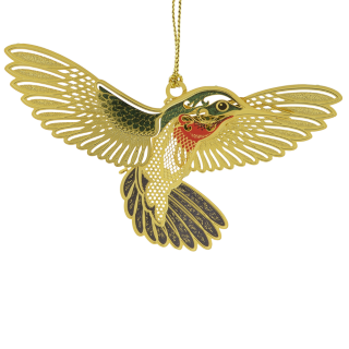 Christmas ornament that looks like a real hummingbird
