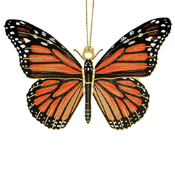 Beautiful Christmas ornament that looks like a real monarch butterfly