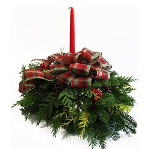 "14 "" Alpine Christmas Centerpiece"