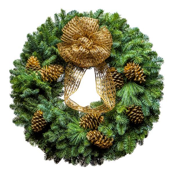 25 Tastefully Golden Christmas Wreath