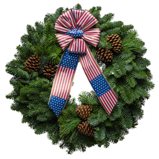 "20"" Stars & Stripes Christmas Wreath"