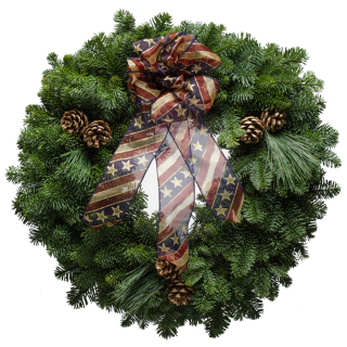 "20"" America the Beautiful Christmas Wreath"