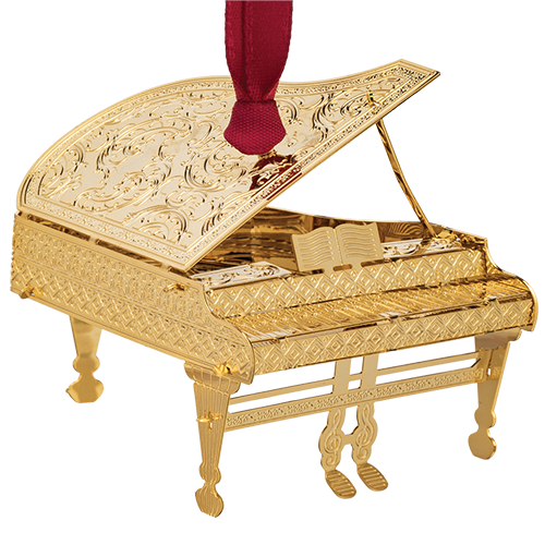 Grand piano ornament handcrafted from brass